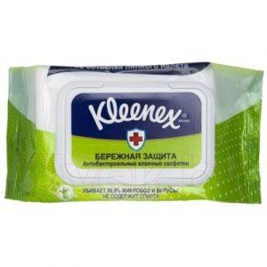 Влажные салфетки Kleenex Protect антибактериальные