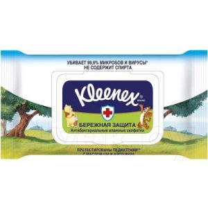 Влажные салфетки Kleenex Protect Disney антибактериальные