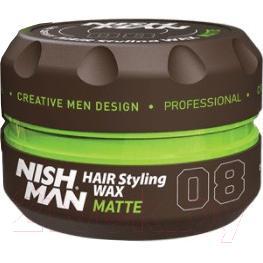Воск для укладки волос NishMan 08 Matte Look