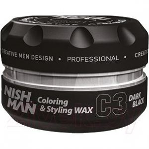 Воск для укладки волос NishMan C3 Dark Black цветной