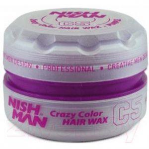 Воск для укладки волос NishMan C5 Purple цветной