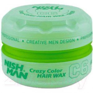 Воск для укладки волос NishMan C6 Green цветной