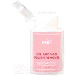 Жидкость для снятия гель-лака E.Mi Gel and Nail Polish Remover в помпе